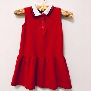 Janie & Jack Red Sleeveless Polo Dress Girl's 4